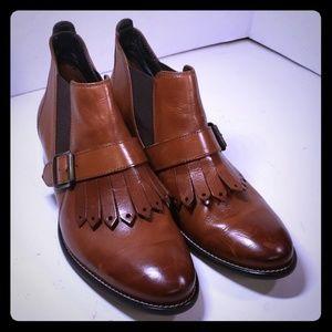 Paul Green Classic Shoe Boot  Cognac Size 7